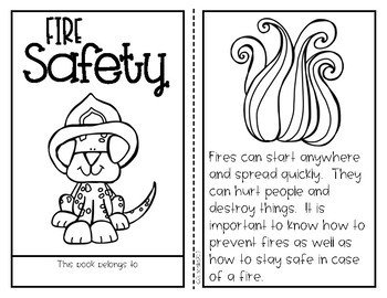 Fire safety kids craftivity printables by a cupcake for Fire escape plan worksheet