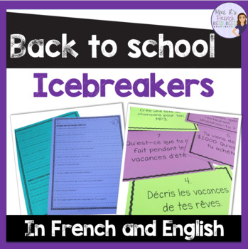 All about me - icebreakers for secondary in French and English