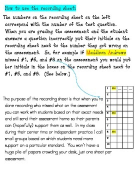 first grade addition and subtraction common core strategies assessment