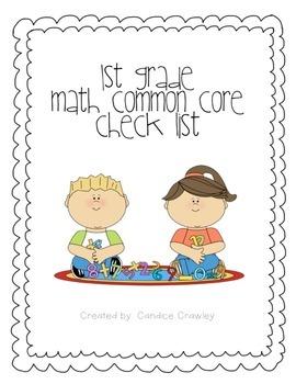 first grade common core ELA and Math common core checklist