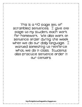 first grade sentence scramble by Jennifer Mesar | Teachers Pay ...
