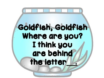 fish letter learning centers