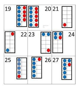 Kindergarten Math Calendar - five frame to ten frame calendar pieces