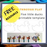 five little ducks free template