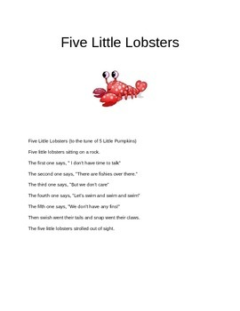 five little lobsters