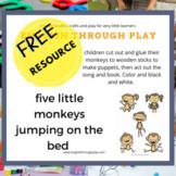five little monkeys puppets