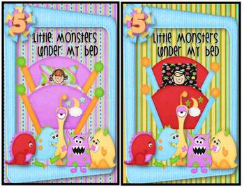 five little monsters under my bed