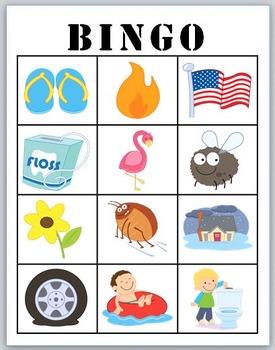 fl- blends BINGO + 12 bonus pages of fl- vocabulary words