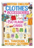 flash cards / flashcards, picture cards, British English: clothes