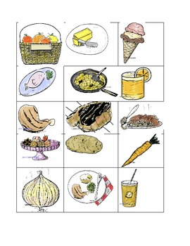 flash cards - pg. 2 -food- 12- small - .doc (7.1 mb)  - Span/French/Esl