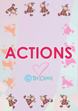 flash cards with actions