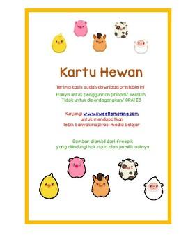 flashcard hewan bahasa indonesia