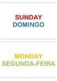 flashcards - days of the week (English_Portuguese)