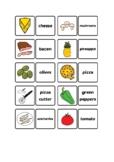 flashcards pizza ingredients vocabulary
