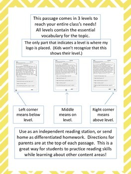 flood and drought fluency and comprehension leveled passages