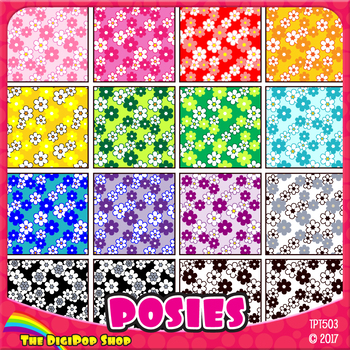 """floral pattern digital paper - grayscale, bright colors, .jpg 12""""x12"""", 8.5""""x11"""""""