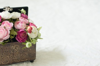 Stock Photo: Box of Flowers #2 -Personal & Commercial Use