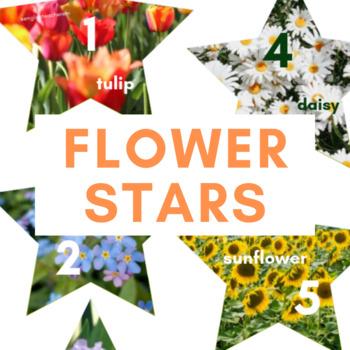 Flower Stars (With Names!) - VIPKID Reward, Online Teaching, Summer, Nature