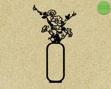 flower vase SVG cut files, DXF, vector EPS cutting file instant download