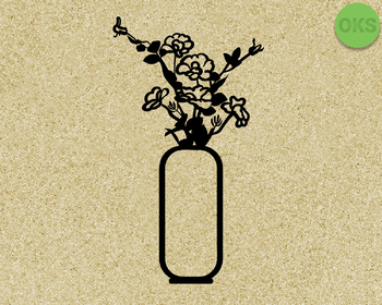 flower vase SVG cut files, DXF, vector EPS cutting file instant download
