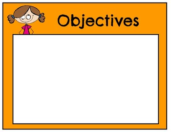 focus wall/ objectives
