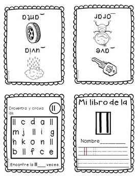 foldable alphabet mini-books in spanish/ mini libros del alfabeto