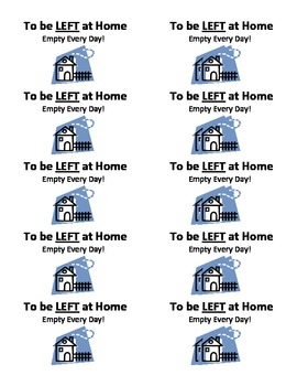 Back to School Take Home Folder Labels: Students Organize the RIGHT and LEFT