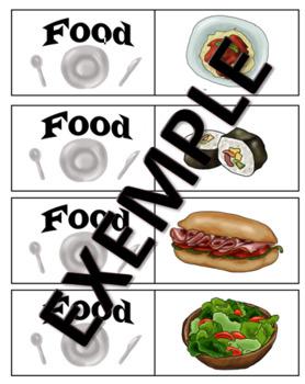 food memory cards game