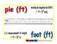 foot/pie meas 1-way blue/rojo