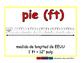 foot/pie meas 2-way blue/rojo