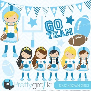 football and tutus clipart commercial use, vector graphics - CL577