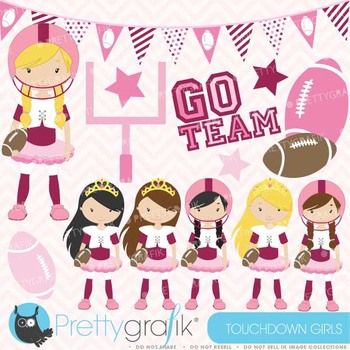 football and tutus clipart commercial use, vector graphics - CL578
