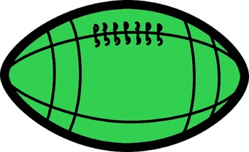 football  clip art(FREE- FREEDBACK CHALLENGE)