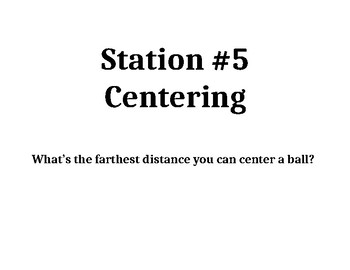 football stations for elementary school