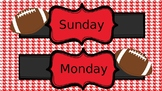 football themed Days of the week