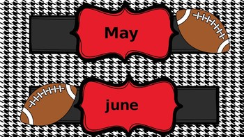 football themed months of the year