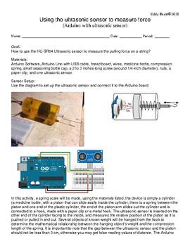 force sensor with HCSR04 ultrasound LAB