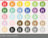 fork and Knife Digital Clipart, fork and Knife Graphics, fork and Knife PNG