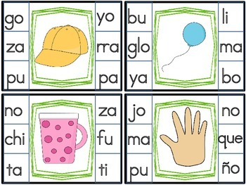 formando palabras- primera y ultima silaba