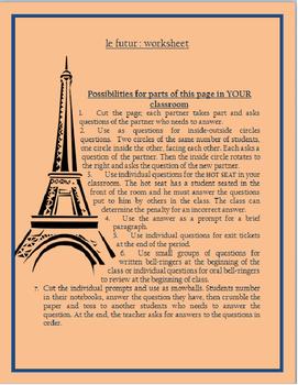 formes au futur FRENCH