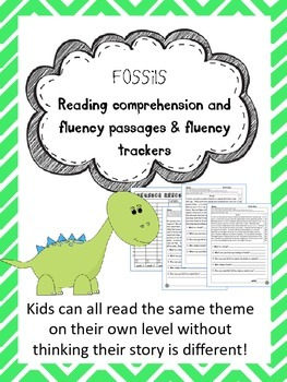 fossils fluency and comprehension leveled passage