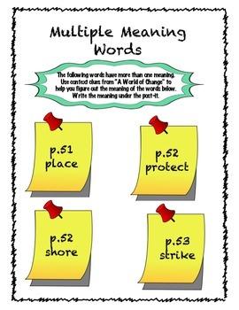 fourth Grade (4th Grade) Reading Wonders Unit 1 Week 3 Interactive Notebook