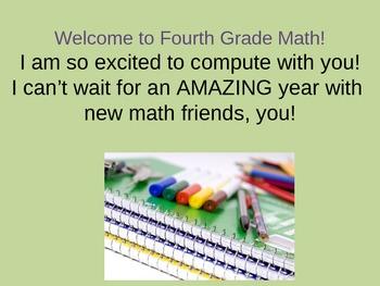 fourth grade math start
