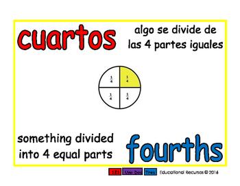 fourths/cuartos meas 1-way blue/rojo