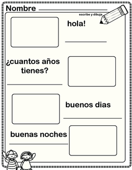 fraces pequenas- small sentences in Spanish