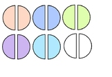 fraction clipart(one-half)