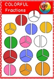 fraction clipart(one-half,one-third)