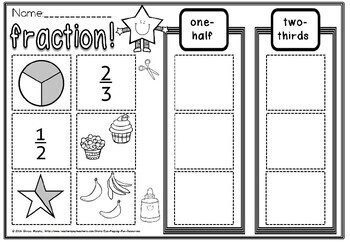 FRACTIONS FOR FIRST GRADE MATCH