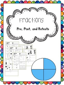 fractions pretest, posttest, and retest