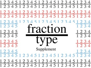 fractiontype Fraction Font - Supplement